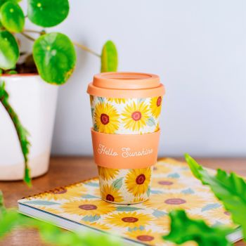 Sunflower Love Bamboo Coffee Mug