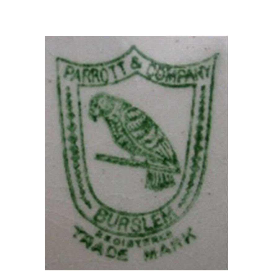 """Parrott & Co just showing """"Registered Trademark"""" - used from c1921 to c1935"""