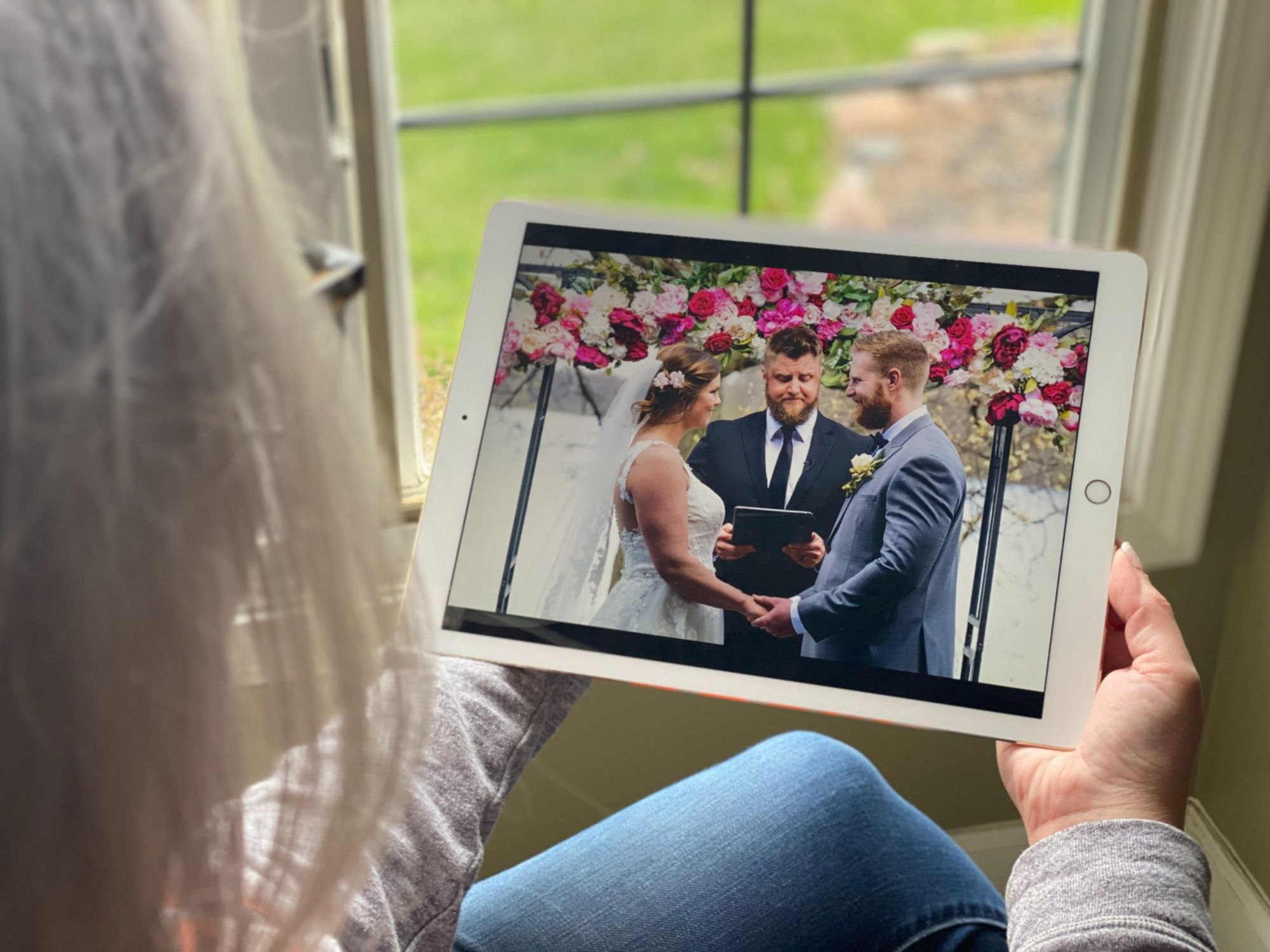 Bride and Groom on ipad
