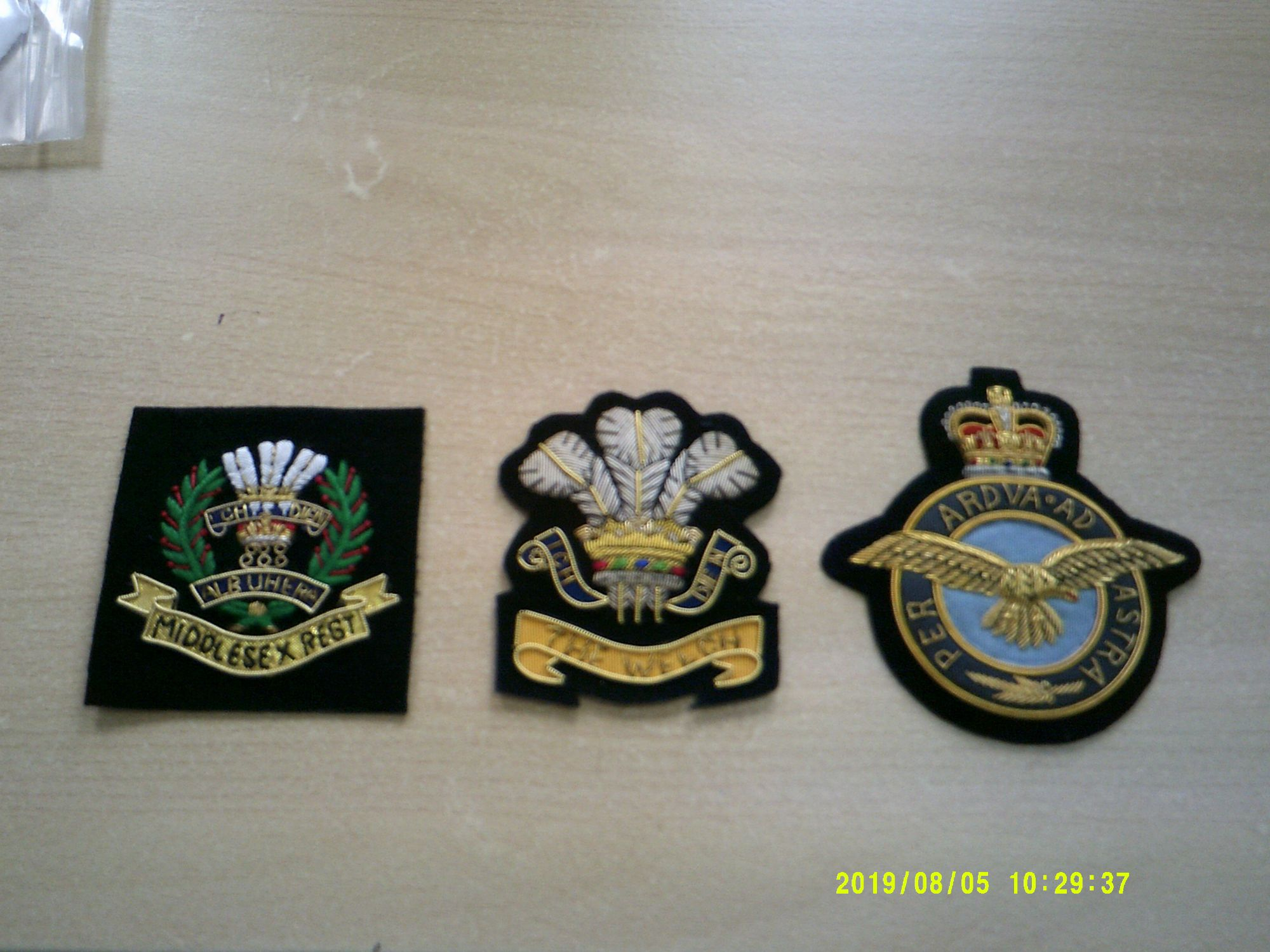 military blazer badges