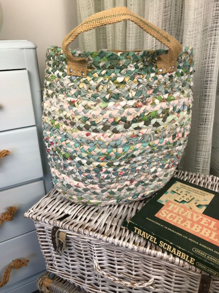 Large green bag with stud detail