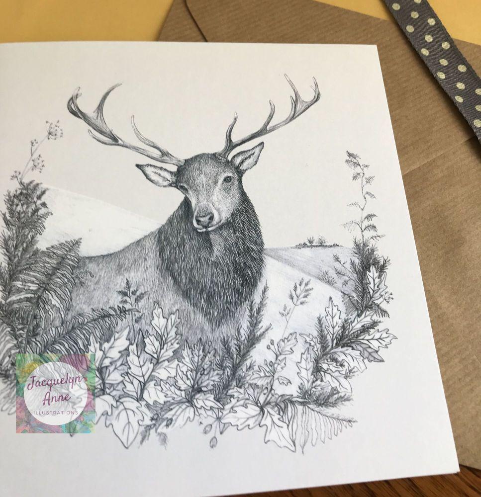 Exmoor Stag Greetings Card