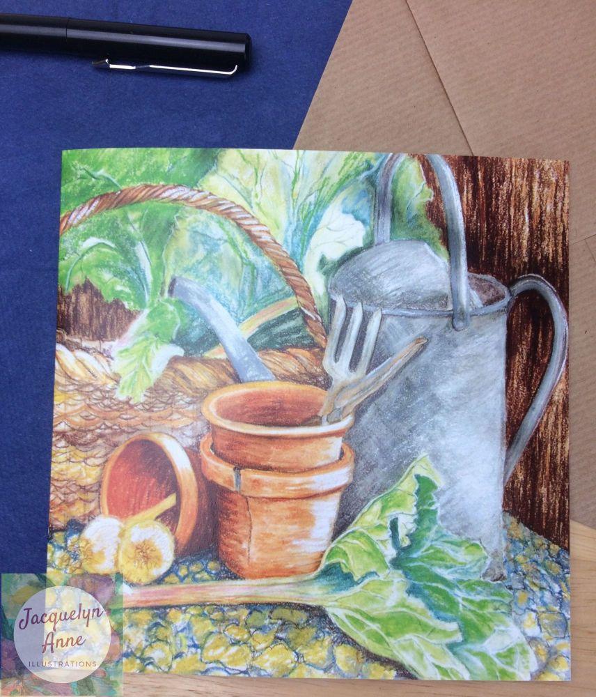 A bit of gardening greetings card