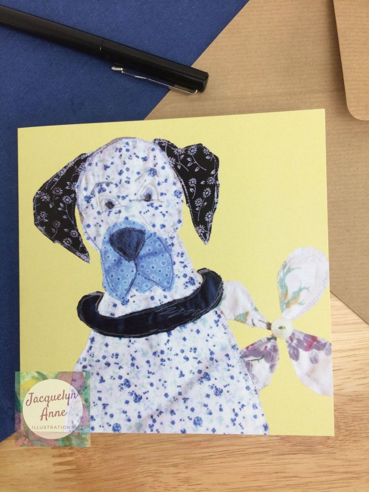 Blue Dane Greetings Card