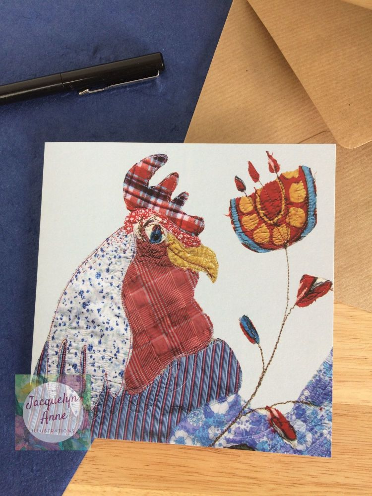 Cheeky Chicken Greetings Card