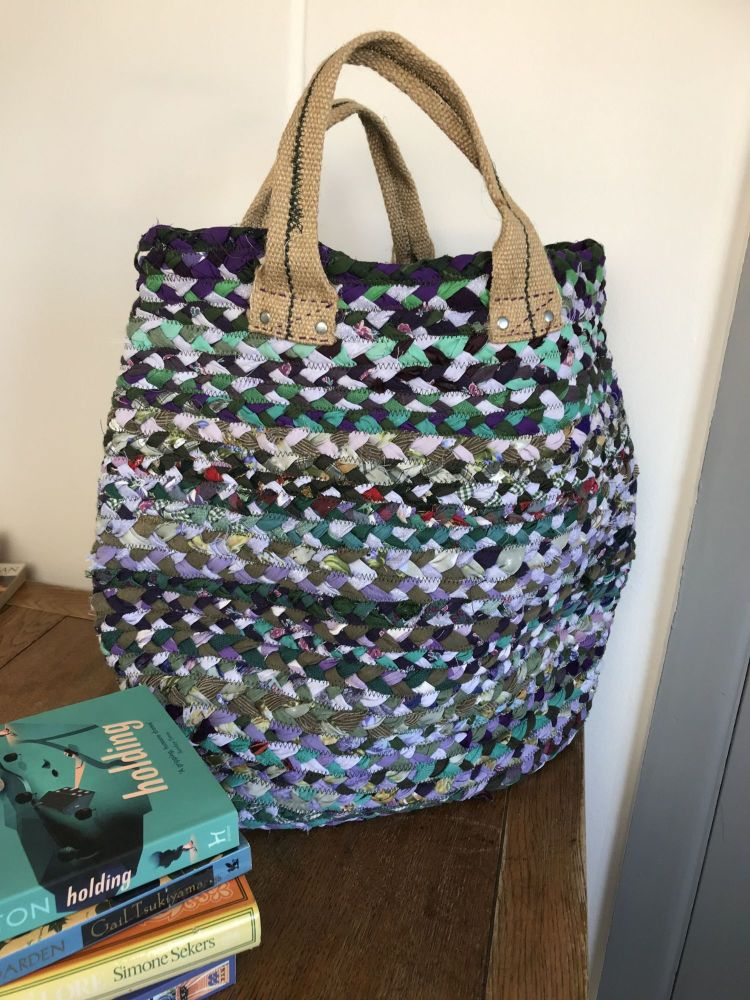 Purple Recycled Fabric Bag