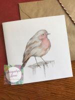 Hello Little Robin Greetings Card