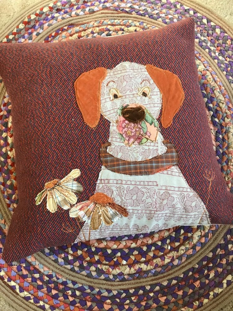 Daisy Dane in the flowers cushion
