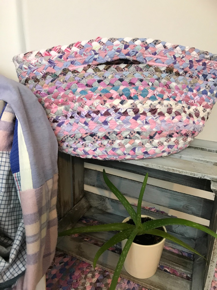 Pink and blue basket