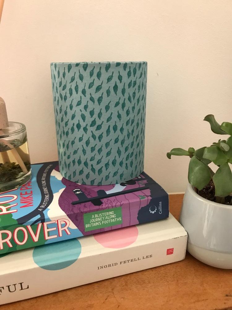 Green Leaf Print Lantern