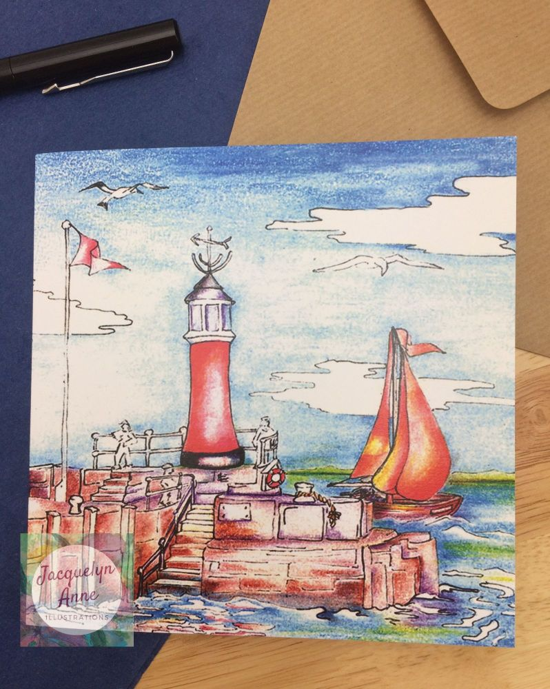Watchet Greetings Card