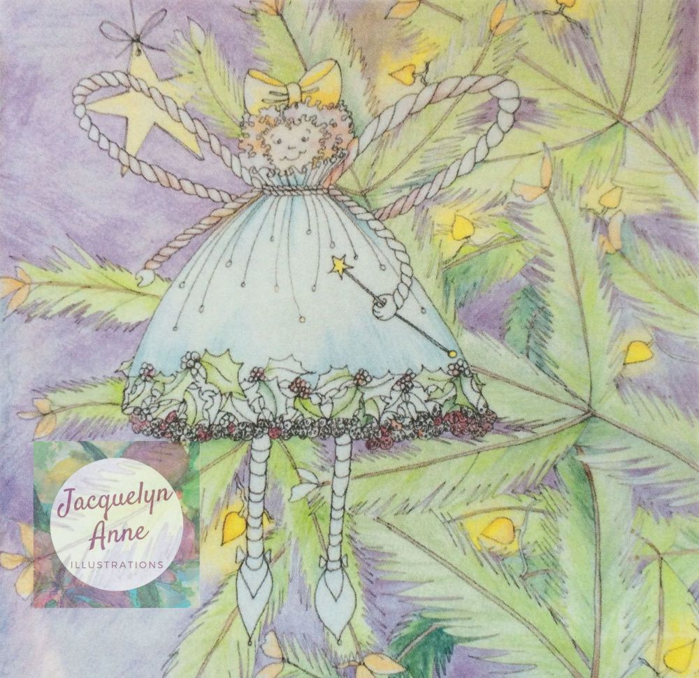 Fairy in a Christmas Tree Greetings Card