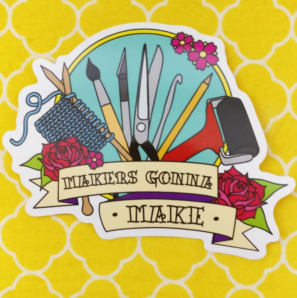 Makers gunner Maker sticker