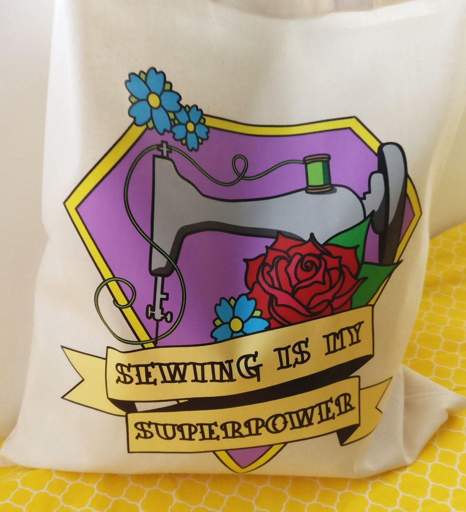 Sewing is my Superpower Tote Bag