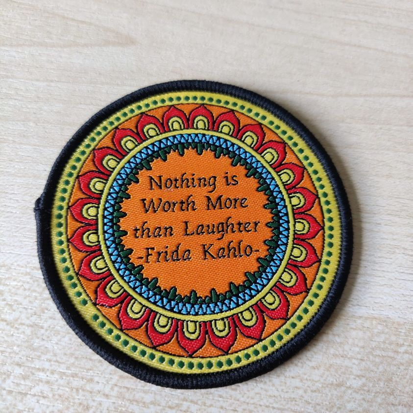 Nothing is worth more than laughter - sew on patch
