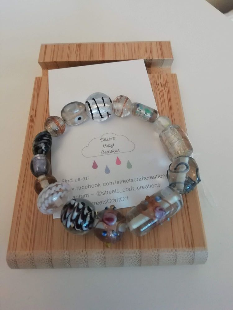 Mixed Clear Glass Bracelet