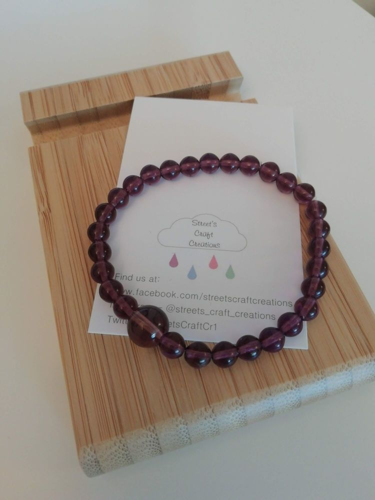 Purple Glass Bracelet