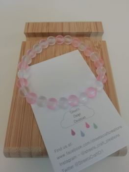 Pink & Clear Frosted Bracelet
