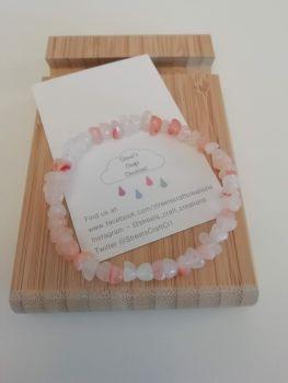Pink Marbled Chip Bracelet