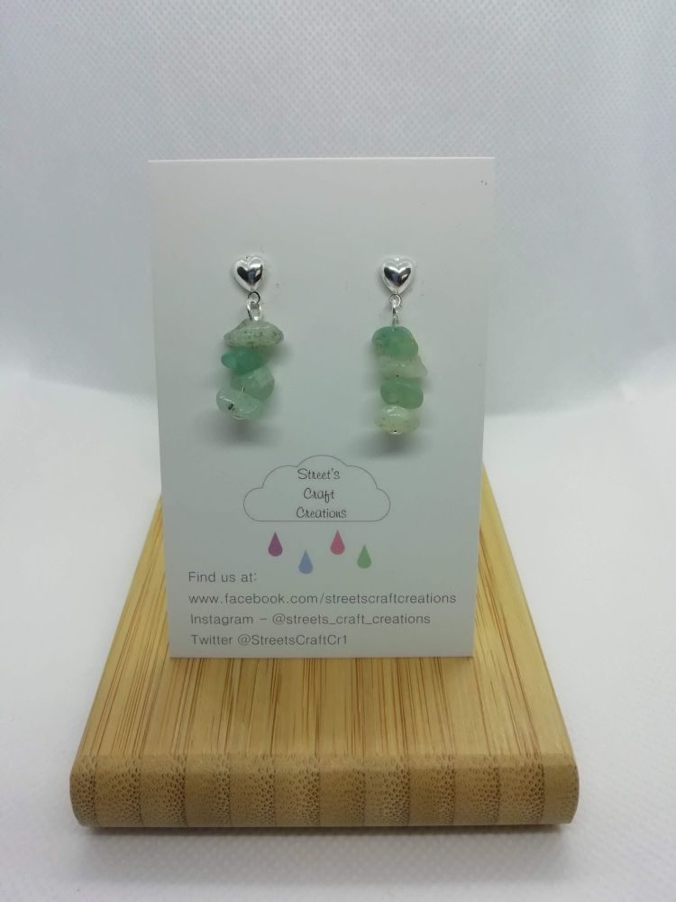 Amazonite Gemstone Chip Studs