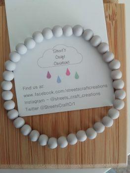 Acrylic Beaded Bracelet (Grey)