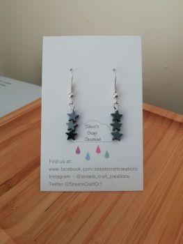 Hematite Gemstone Star Earrings