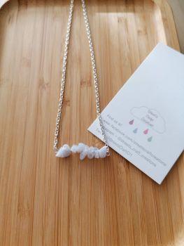 Chalcedony Gemstone Chip Necklace