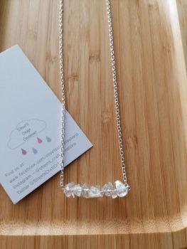 Clear Quartz Gemstone Chip Necklace