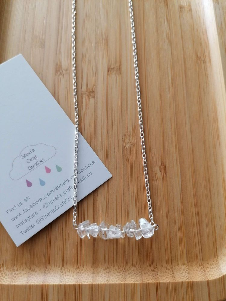Clear Quartz Gemstone Chip Necklace