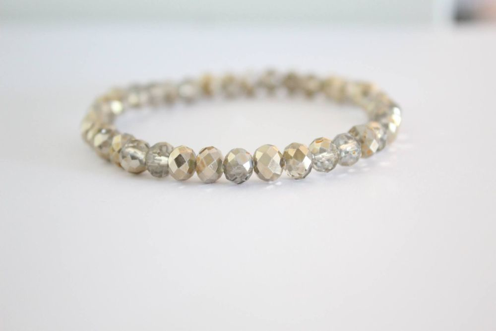 Crystal Beaded Bracelet in Glorious Golds