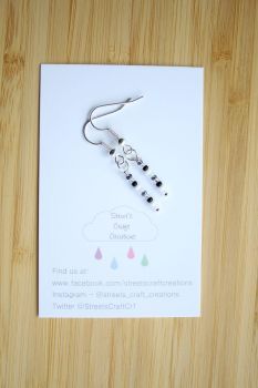 Colour Pop Earrings in Black, White & Silver Mix