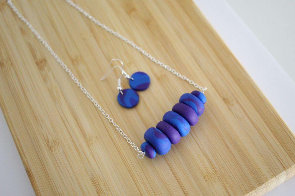 Royal Blue & Purple Swirl Clay Set