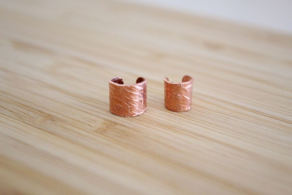 Textured Copper Ear Cuff