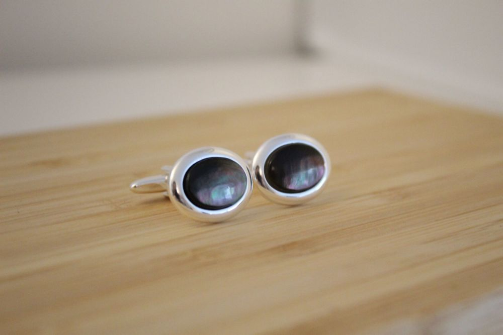 Black Lip Mother of Pearl Cufflinks