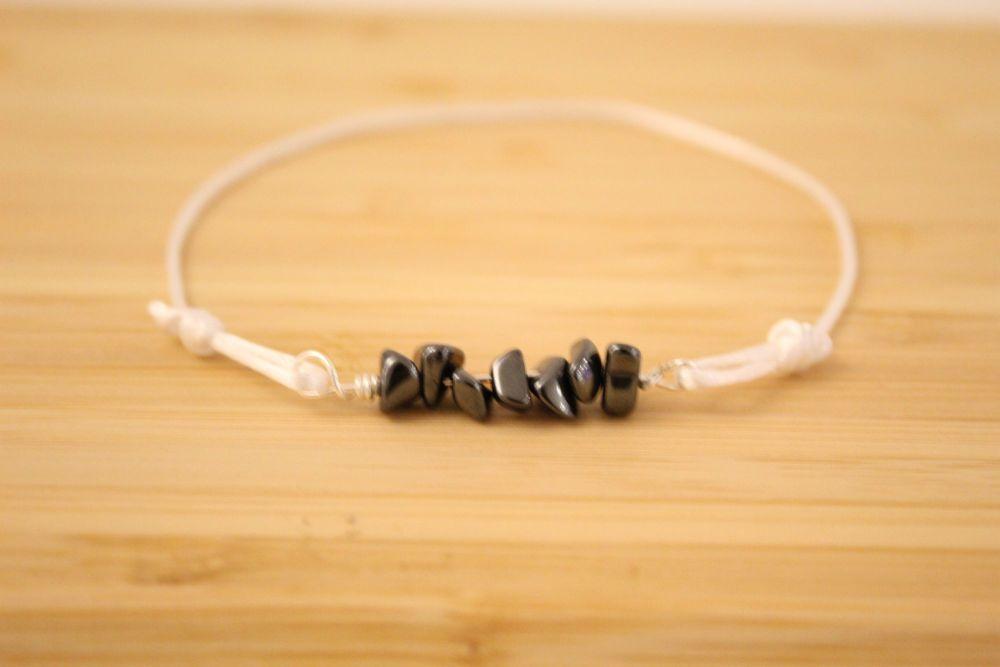 Hematite Cord Bracelet