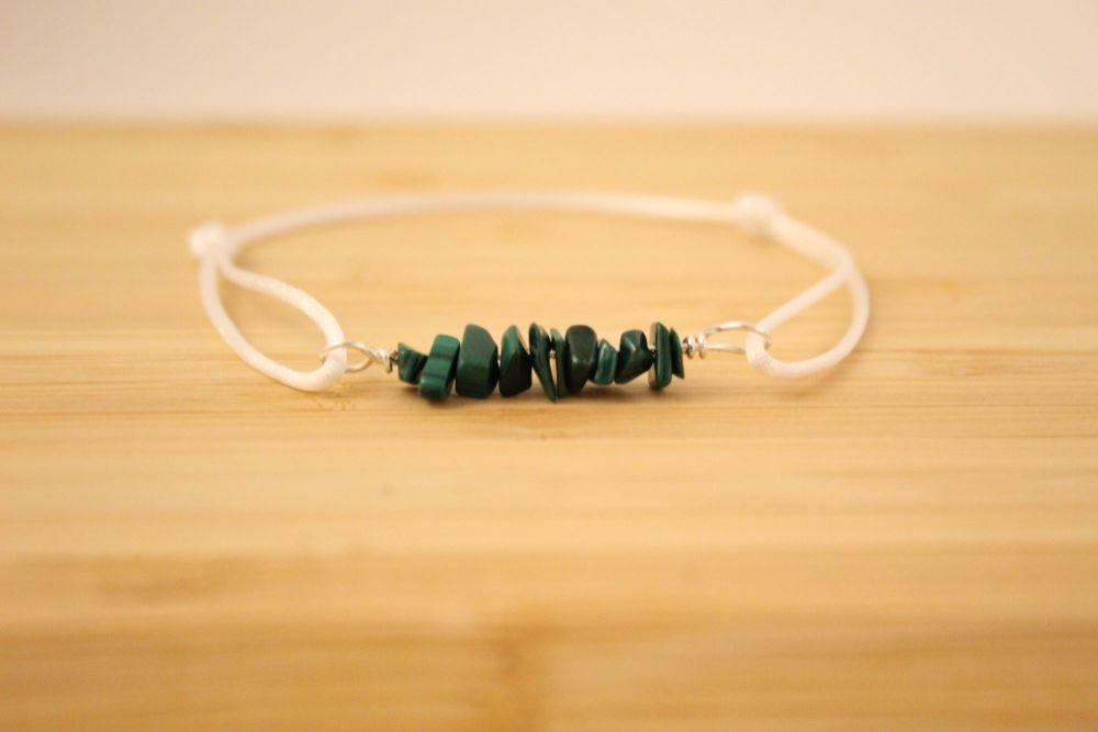 Malachite Cord Bracelet