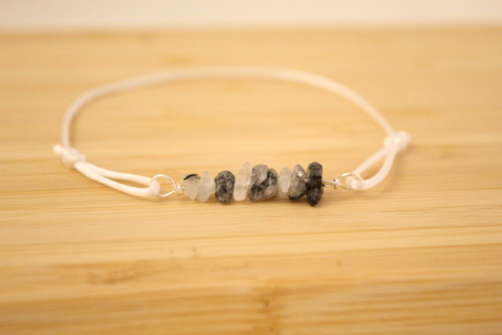 Rutilated Quartz Cord Bracelet