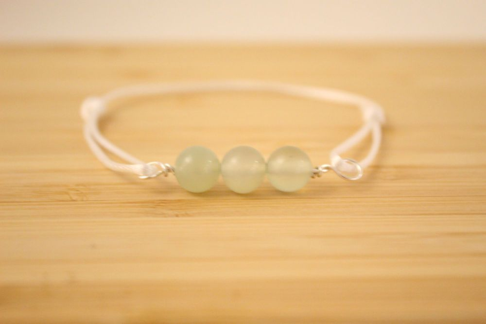 Jade Beaded Cord Bracelet