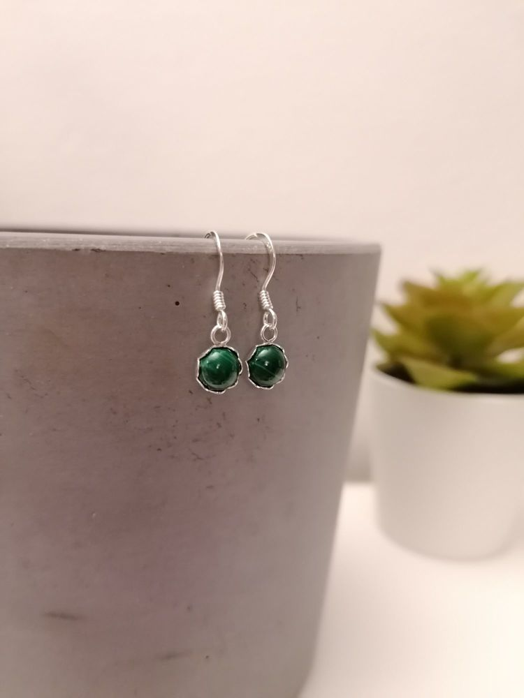 Malachite Gemstone Earrings