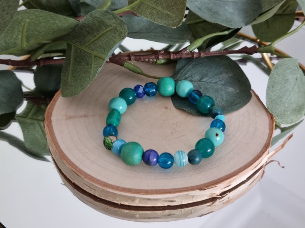 Mixed Material Beaded Bracelets