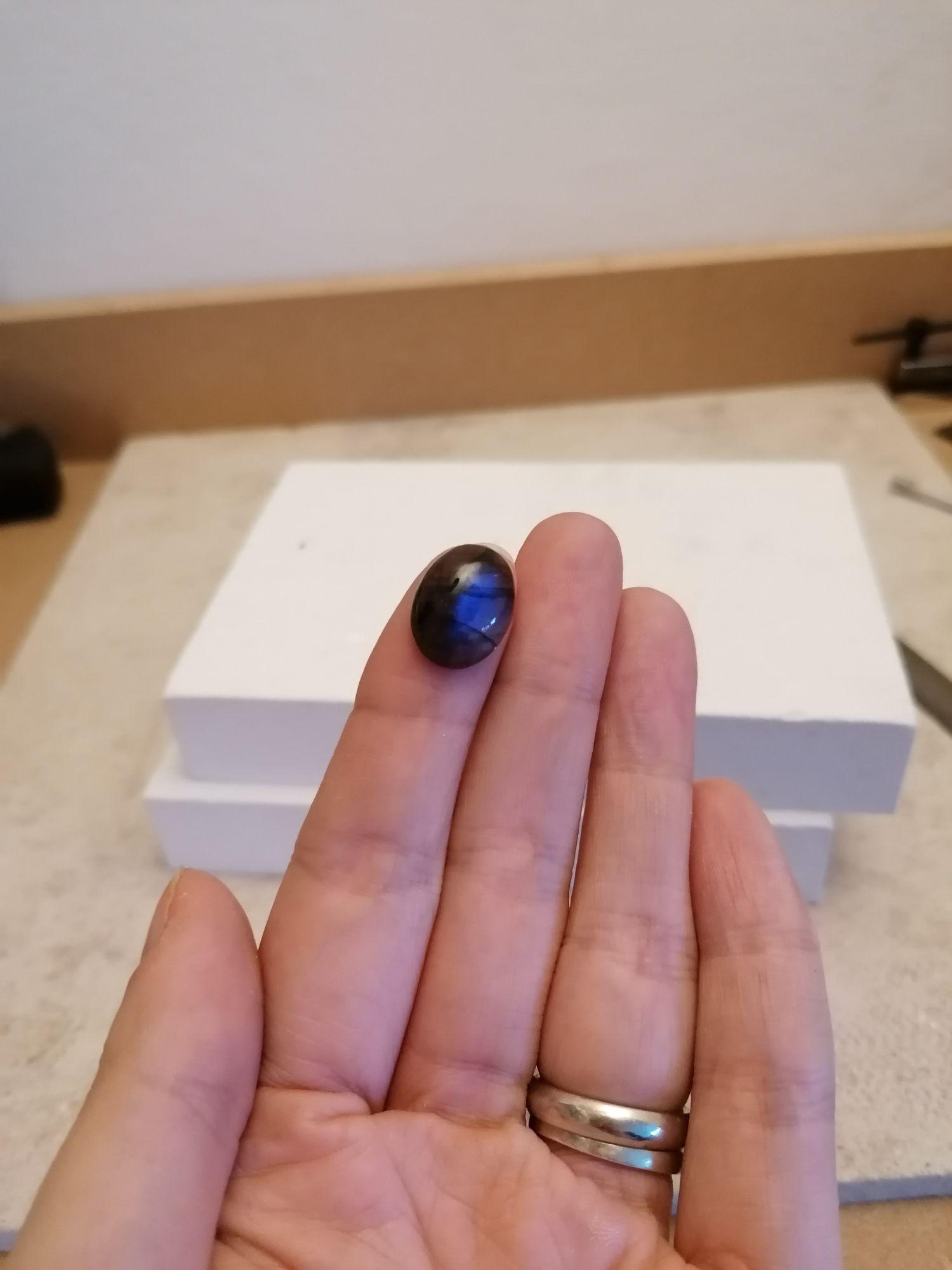 Labradorite gemstone with blue flash