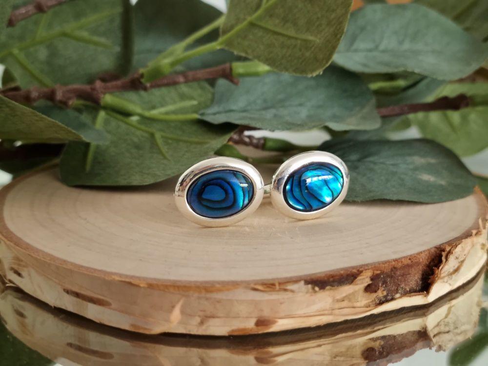 Blue Abalone Cufflinks