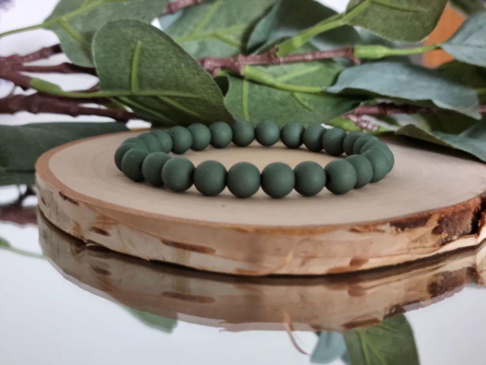 Acrylic Beaded Bracelet (Green)