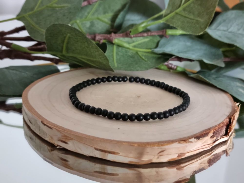 Black Agate Gemstone Bracelet