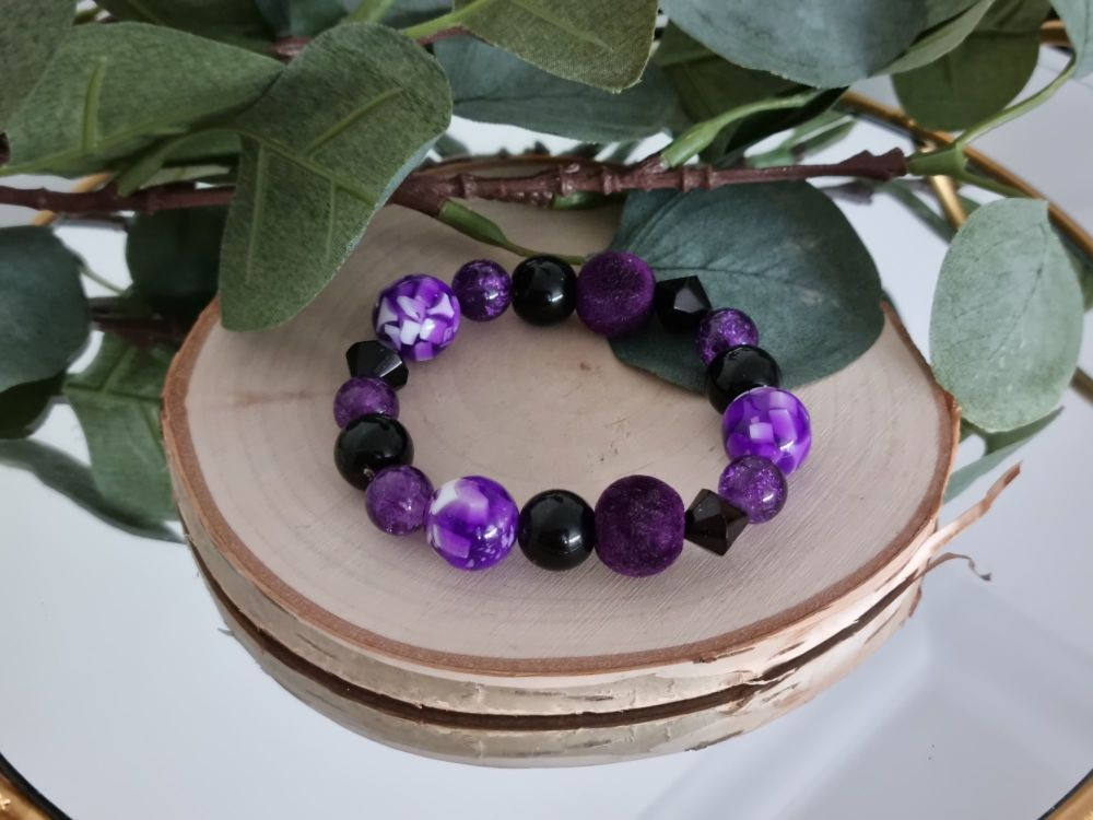 Purple Mix Bracelet