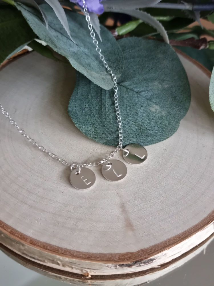 Initial Stamped Necklace