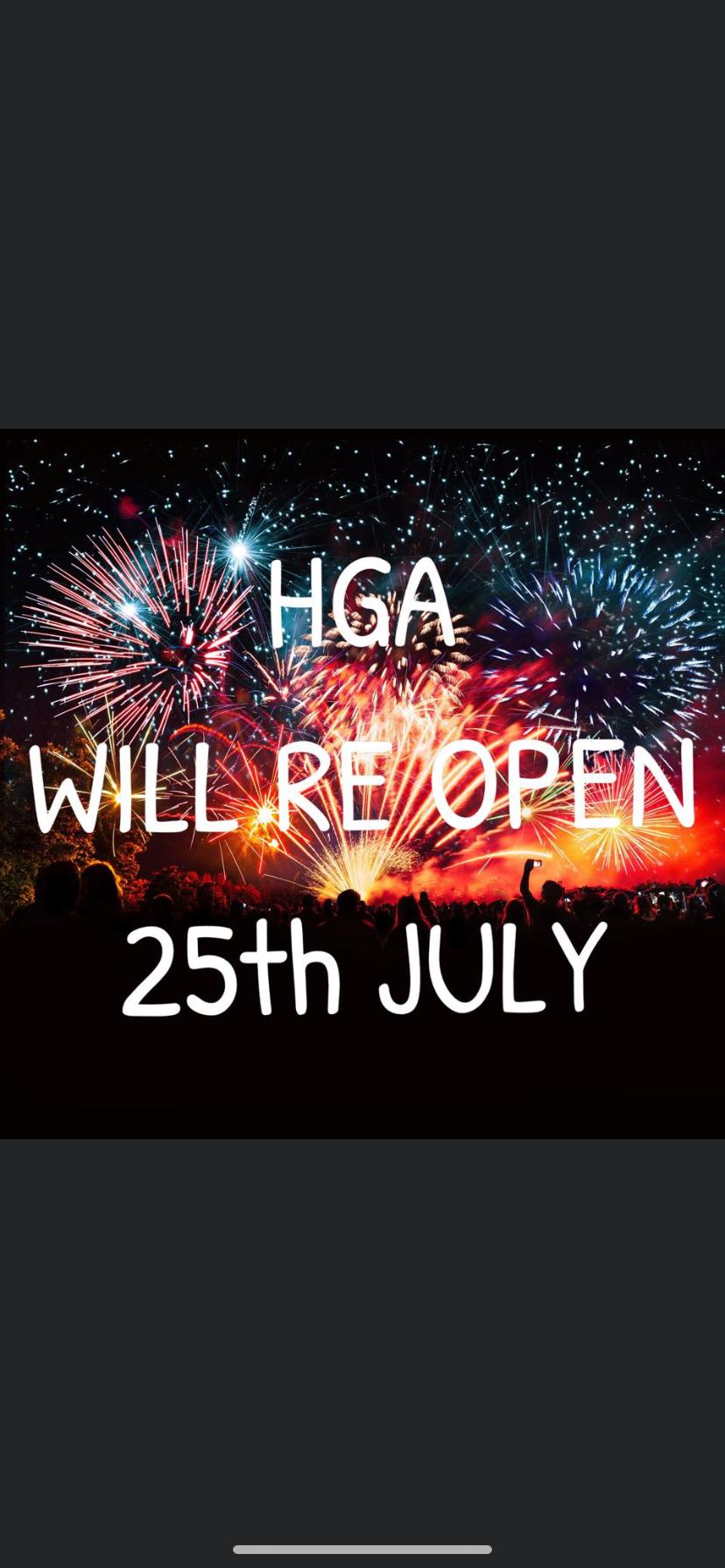 HGA reopening
