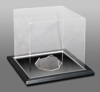 Acrylic Football Display Case With A Mirror Base