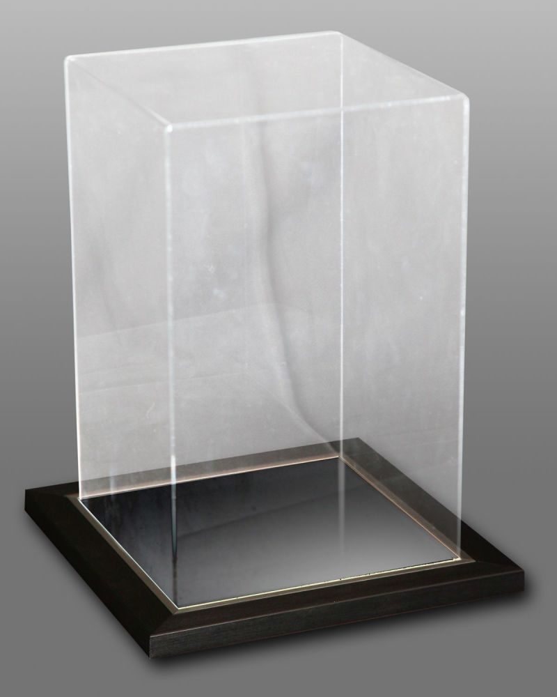 Acrylic Display Case Ideal For Upright Gloves With A Mirror Deluxe Base.