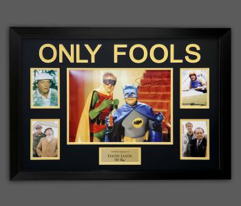 "David Jason Hand Signed Only Fools & Horses 12x16"" Photograph in a Framed Presentation: A"